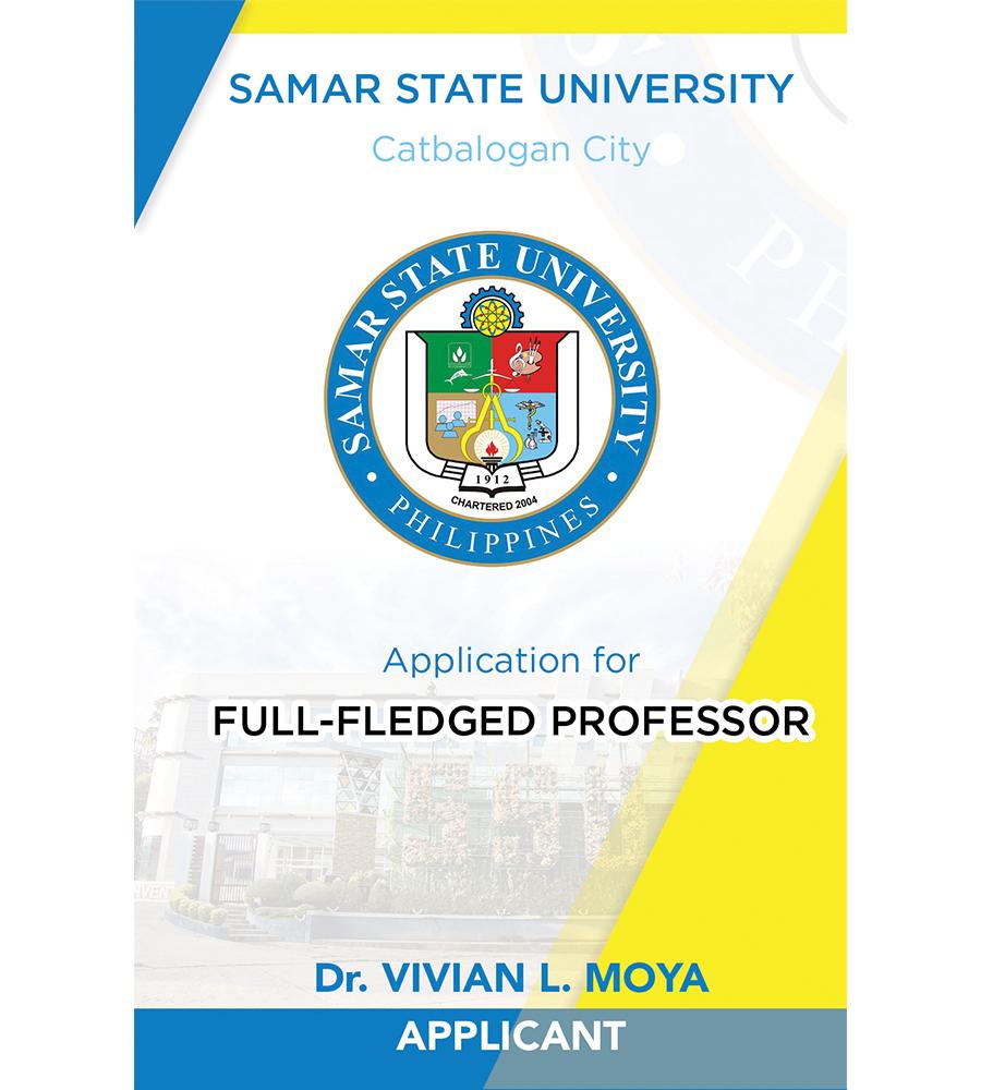 Application for Full-Fledged Professor