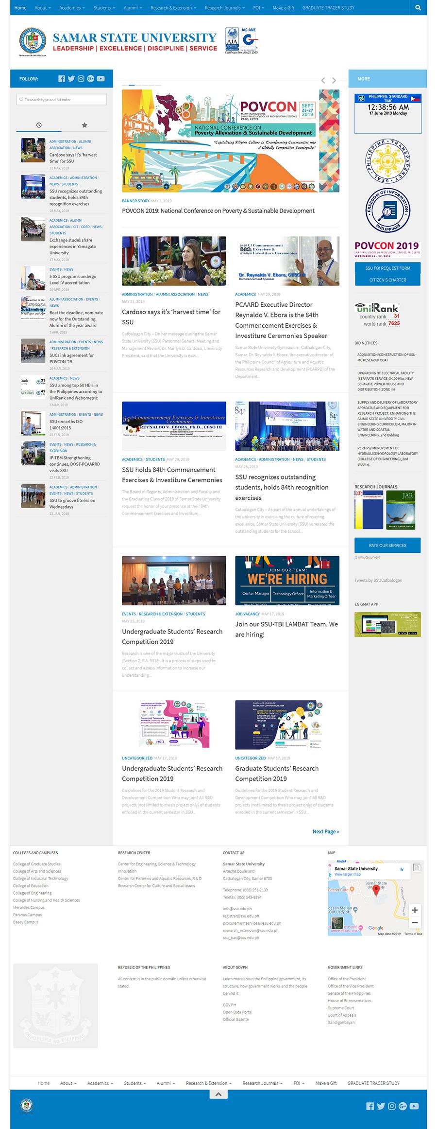 SSU University Website 1