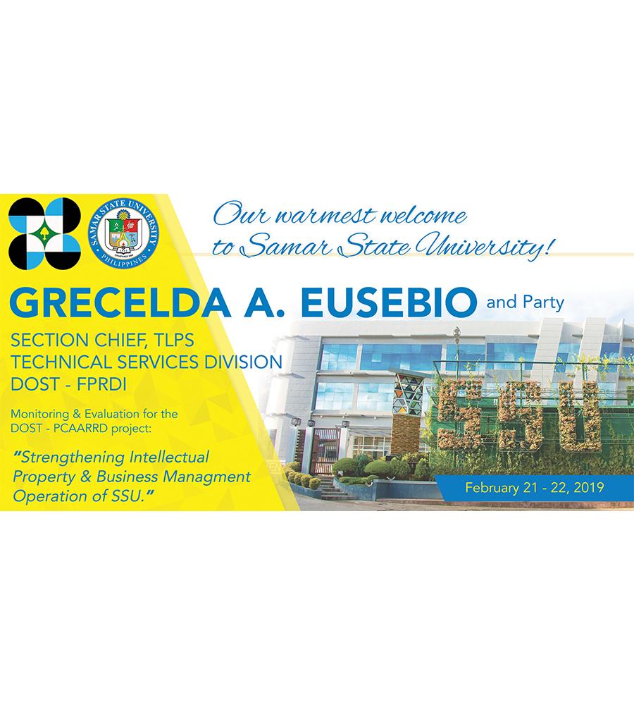 SSU Visitor Grecelda A. Eusebio