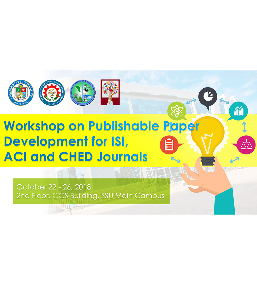 Workshop on Publishable Paper Development for ISI, ACI and CHED Journals