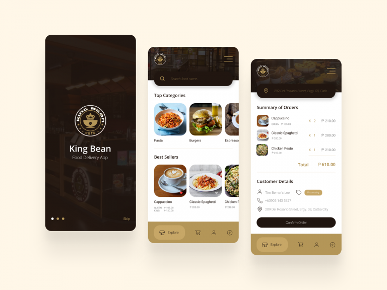 King Bean Delivery App Design x1